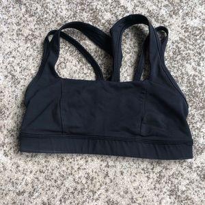 Black lululemon sports bra size 4